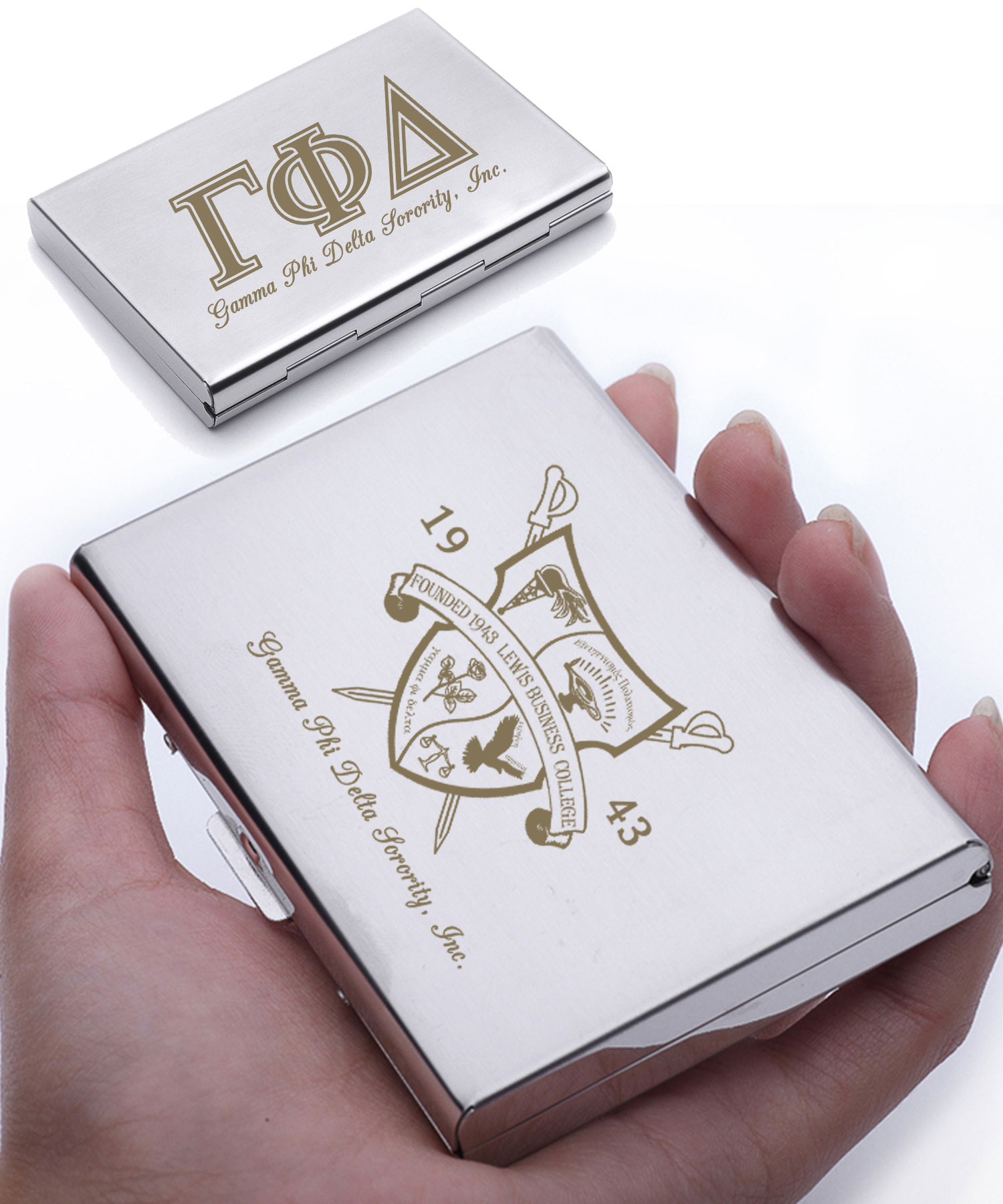 Gamma Phi Delta Executive Business Card Case – Forever Unique