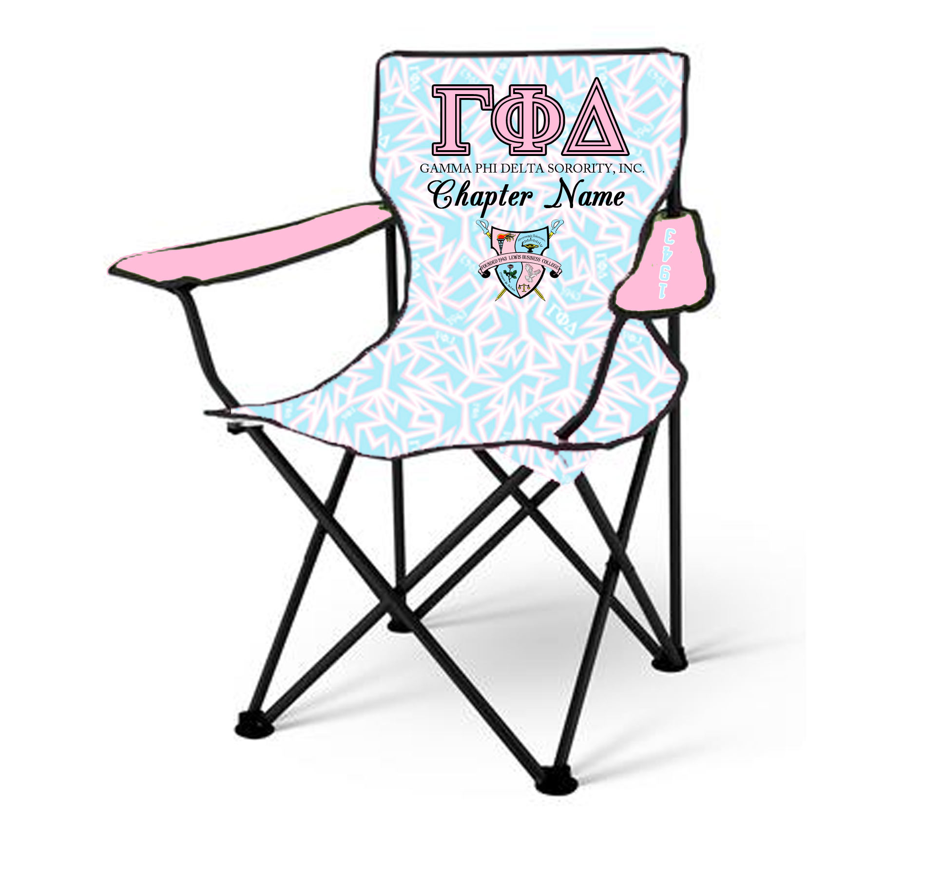 Gamma Phi Delta Sorority Lawn Chair – Forever Unique